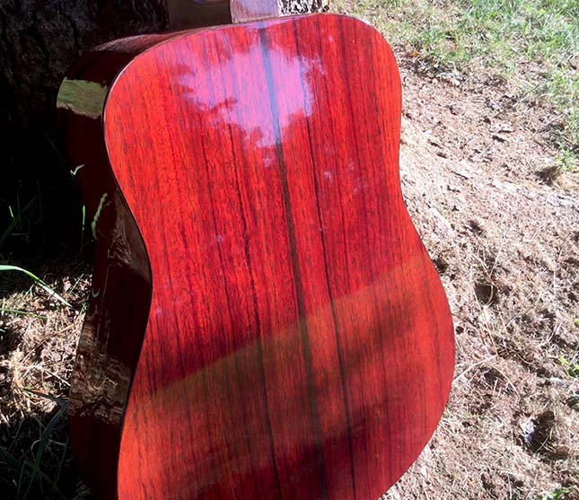 Shaffer Guitar 032 African Padauk back and sides