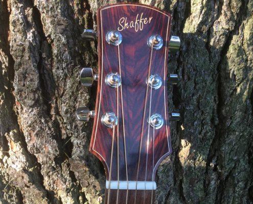 Shaffer Guitar 034 African Mahogany head block